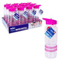 750ml Pink Jewelled Drinks Bottle