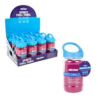 Sports Chill Towel W/ Carabiner Bottle - Pink