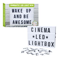 LED LightBox Cinematic B/O Req 6xAA (Not Inc.)