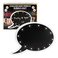 Chalkboard Marquee Speech Bubble