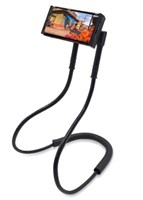 Adjustable Phone Holder Neck Mount - Black