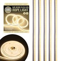 5m LED Neon Flex Rope Light Warm White