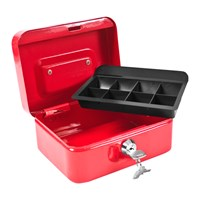 "6"" Red Cash Box with 2 Keys"