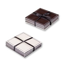 4pk Brown/Cream Coasters