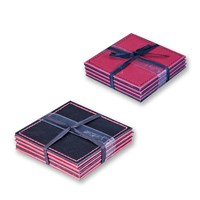 4pk Red/Black Coasters