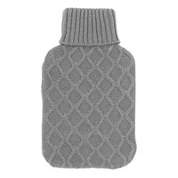 2Ltr Grey Knitted Hot Water Bottle