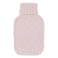 2Ltr Blush Pink Knitted Hot Water Bottle