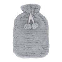 2Ltr Grey Faux Fur Hot Water Bottle