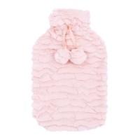 2Ltr Blush Pink Faux Fur Hot Water Bottle