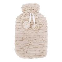 2Ltr  Beige Faux Fur Hot Water Bottle