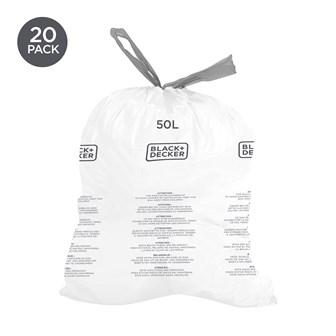 B+D 50L Bin Bags 20 Pack