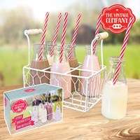 6PK 200ml Milk Bottles In Tray