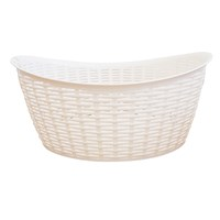 Rattan Laundry Basket - 27 Litre - Cream
