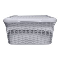 Rattan Laundry Box - 27 Litre - Grey