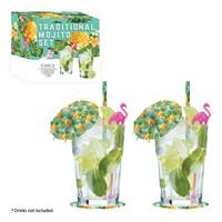 Mojito Cocktail Gift Set -  2x Glasses
