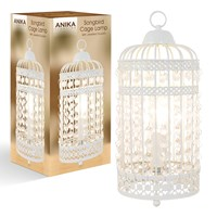 Songbird Birdcage Table Lamp Cream