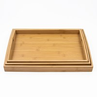Blackmoor 3 Piece Bamboo Tray Set