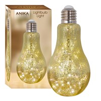 LED Glass Lightbulb Design Light - Gold