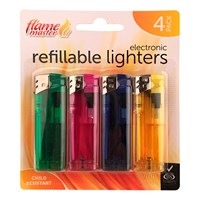 4pk Translucent Lighters