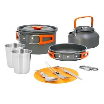 11PC Aluminium Camping Cookware Kit