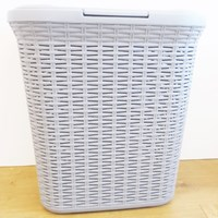 Rattan Laundry Box - 50 Litre - Grey
