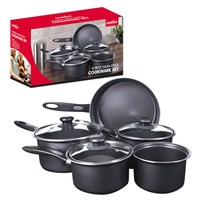 8pc Saucepan Set - Black
