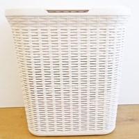 Rattan Laundry Box - 50 Litre - Cream