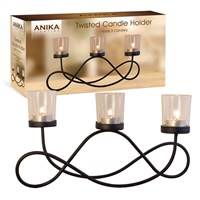 3PC Black Metal Candle Holder