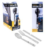 3 Piece Camping Cutlery Stainless Steel