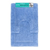 2 Piece Bath Mat Set - Blue