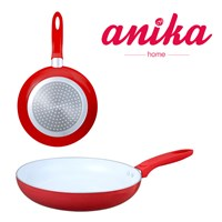 24cm Red Ceramic Frying Pan
