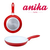 20cm Red Ceramic Frying Pan