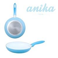 20cm Blue Ceramic Frying Pan