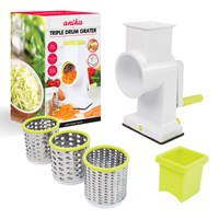Drum Grater with 3 Blades
