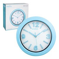 30cm Wall Clock - Blue
