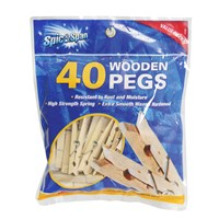 40PK Wooden Pegs