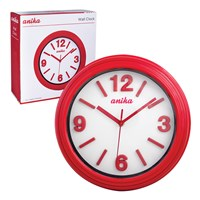 30cm Wall Clock - Red