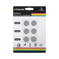 6PK Polaroid Button Cell Lithium Battery