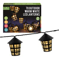 70 LED Clear Lanterns