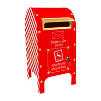 60cm Santa North Pole Express Metal  Mail Post Box