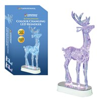 Colour Changing LED Reindeer 28cm