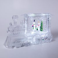 LED Transparent Train With Santa