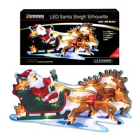 Battery Operated Santa Sleigh Silhouette