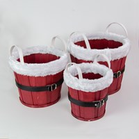 Set of 3 Xmas Bucket