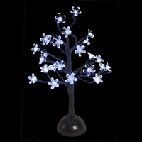 40CM Battery Operated Cherry Tree - 24 LED White