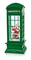 Green Telphone Box With Santa & Reindeer