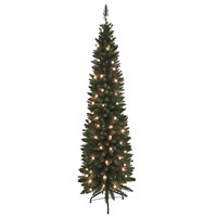 6FT Green Pre-Lit Slim Line Tree