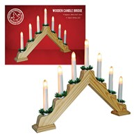 Pine Wooden Candle Bridge