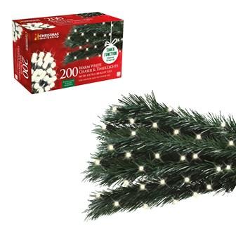 200 LED Chaser & Timer Lights - Warm White