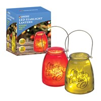 LED Christmas Lantern Jar-2 Assorted Red or Green